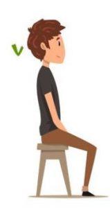 Postura corretta in una sedia da gioco