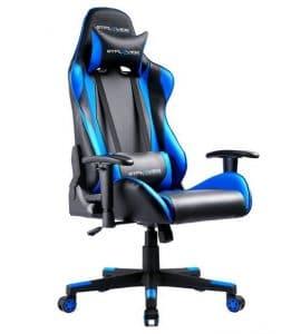 Sedia da gioco GTPlayer GT002 blu e nera