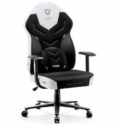 Sedia da gioco Diablo X Player 2.0 bianca e nera
